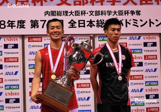Kenta Nishimoto (left) and Kazumasa Sakai