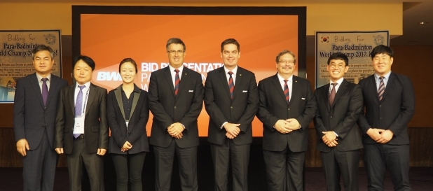 BWF and Korean Para-Badminton delegation
