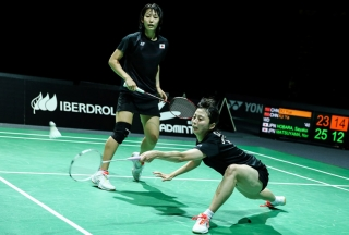 Girls' Doubles winners - Nami Matsuyama & Sayaka Hobara (JPN)