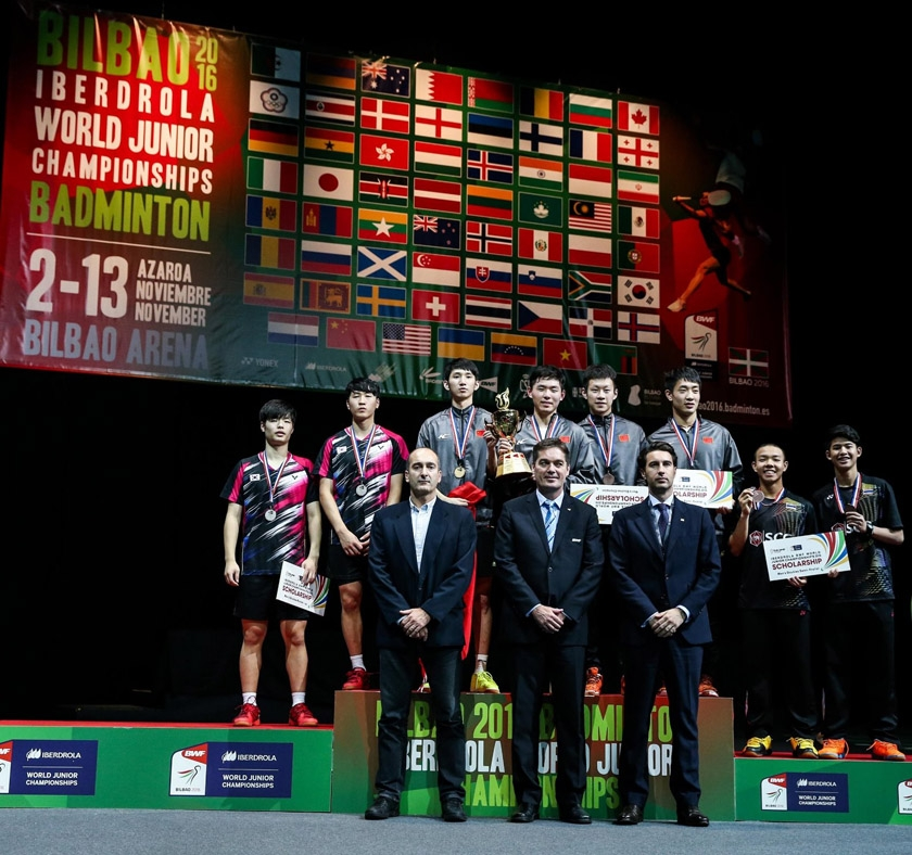 Boys' Doubles medallists