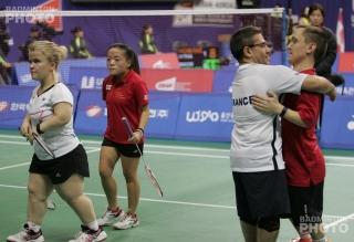 SS6 Mixed Doubles finalists: Rebecca Bedford, Rachel Choong, Fabien Morat, Andrew Martin
