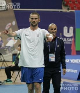 SL4 Men's Singles gold medallist Lucas Mazur (FRA)