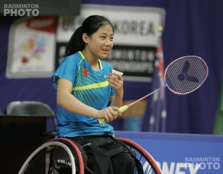 WH2 Women's Singles gold medallist Liu Yutong (CHN)