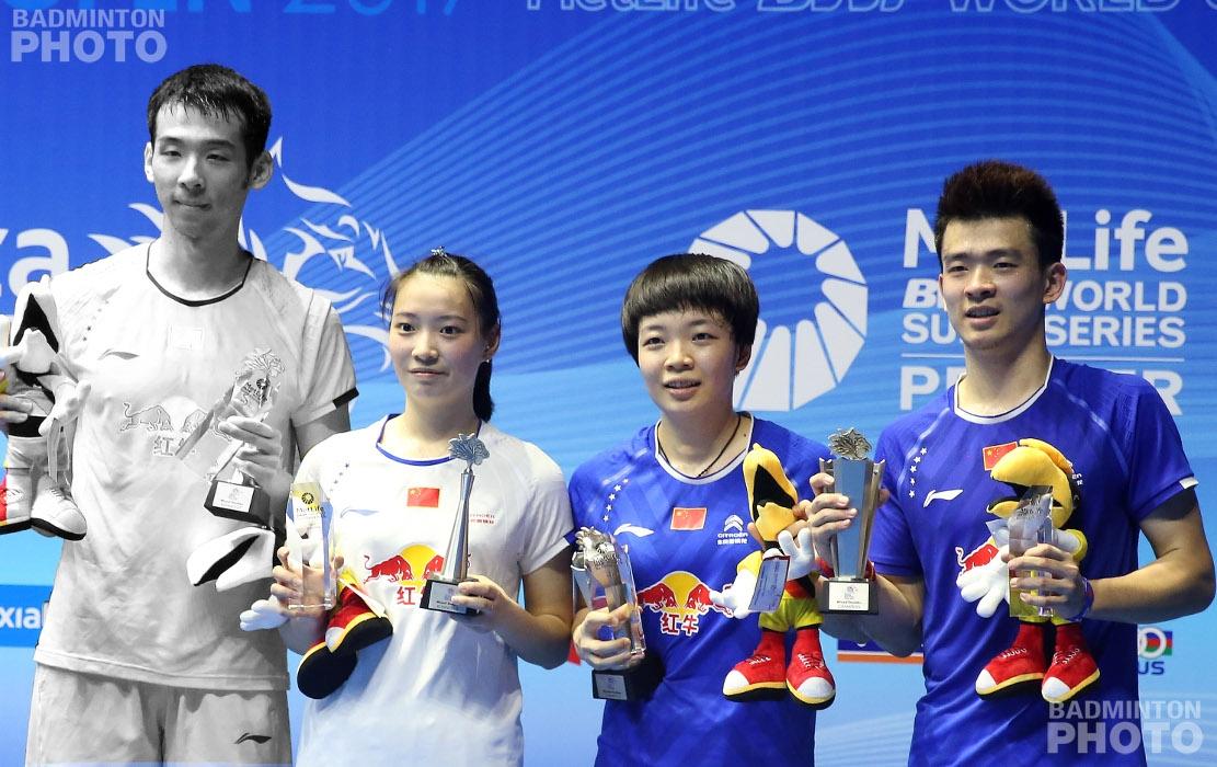Lu Kai (not Dubai-bound) / Huang Yaqiong, Chen Qingchen, and Zheng Siwei