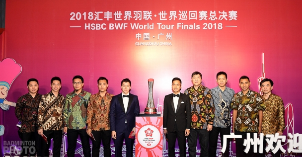Team Indonesia at the World Tour Finals Gala Dinner