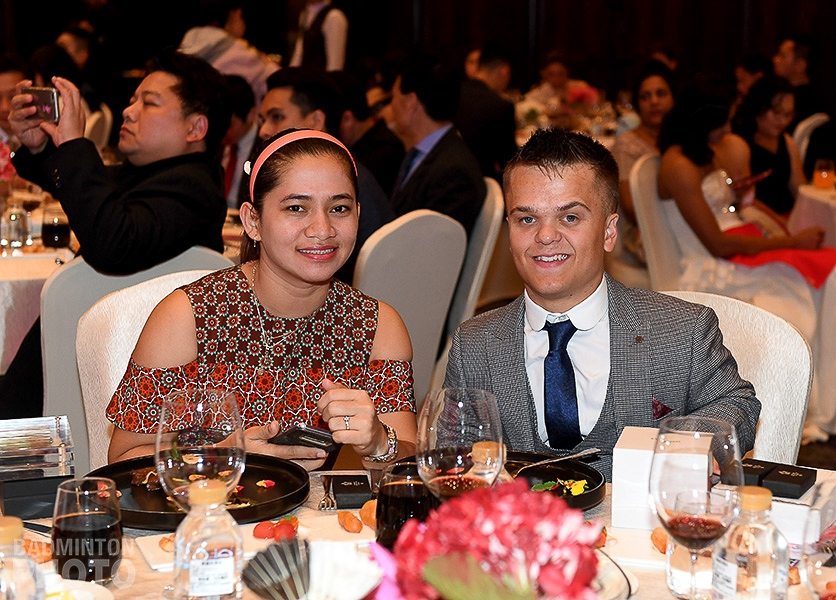2018 BWF Para-Badminton Players of the Year: Leani Ratri Oktila (left) and Jack Shephard