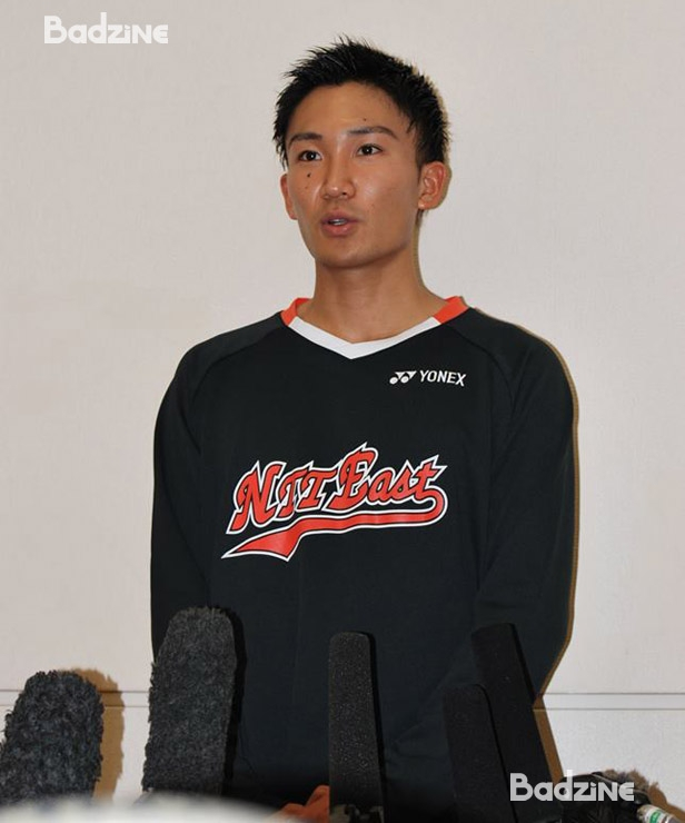 Momota at press conference after first Saitama match