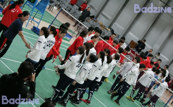 Korea-Japan Friendly Team handshake 8565