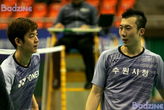 Lee Yong Dae and Yoo Yeon Seong at the 2017 Korea Masters