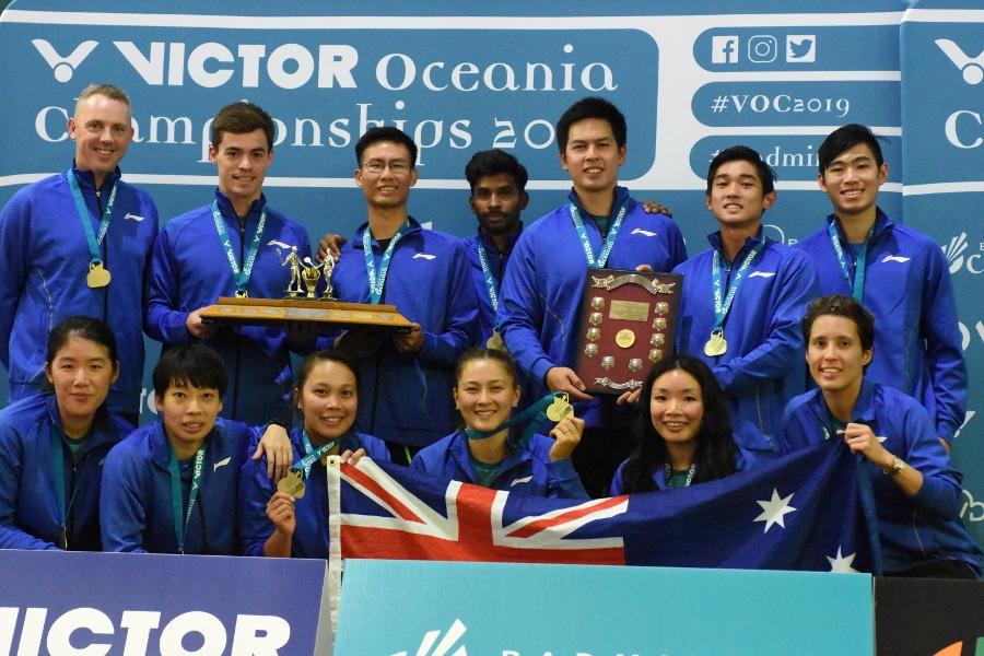 Team Australia at the 2019 Oceania Mixed Team Badminton Championships