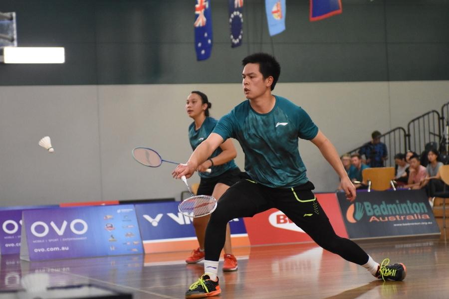 Setyana Mapasa / Matthew Chau (AUS) at the 2019 Oceania Mixed Team Badminton Championships