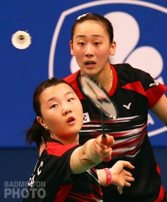 Shin Seung Chan and Lee So Hee at the 2015 Indonesia Open