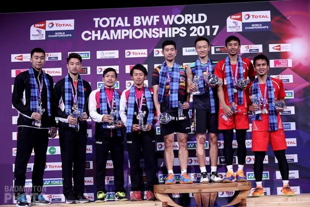 Hong Wei / Chai Biao (CHN), Keigo Sonoda / Takeshi Kamura (JPN), Liu Cheng / Zhang Nan (CHN), Rian Agung Saputro / Mohammad Ahsan (INA)