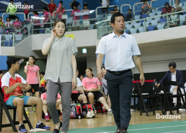 Coaches Hwang Hye Youn and Jung Jae Sung