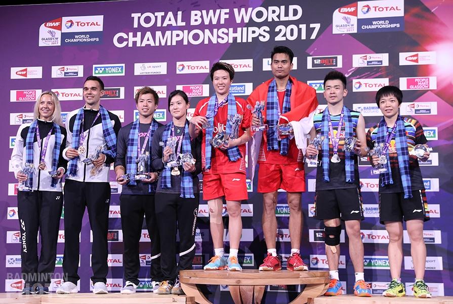 Gabrielle & Chris Adcock (ENG), Lee Chun Hei / Chau Hoi Wah (HKG), Liliyana Natsir / Tontowi Ahmad (INA), Zheng Siwei / Chen Qingchen (CHN)