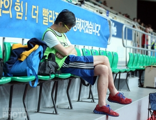 Another long, exhausting day at the Korea Open