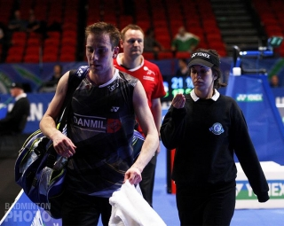 Peter Gade at 2:30AM at the 2012 All England