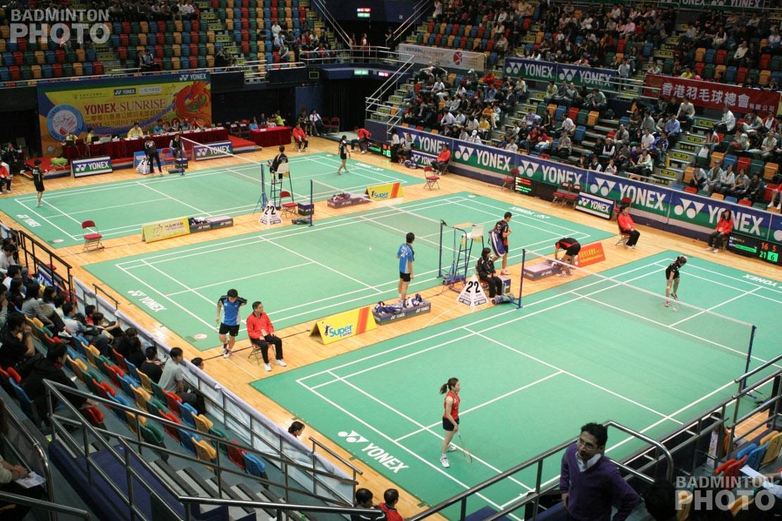 3 courts at the 2008 Hong Kong Open