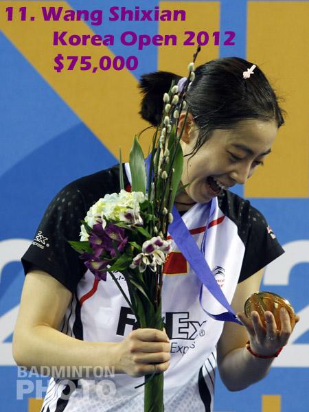 11. Wang Shixian - 2012 Korea Open, $75,000