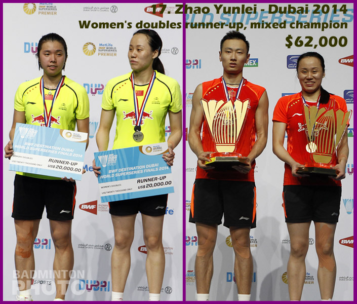 17. Zhao Yunlei - 2014 Superseries Finals, $62,000