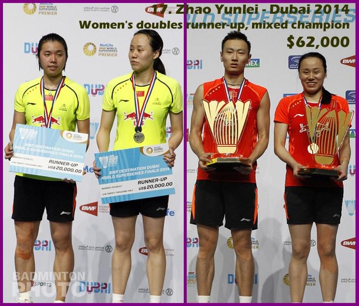 17. Zhao Yunlei - 2014 Superseries Finals, $62,000