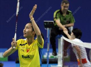 وانگ ییهان پس از کسب عنوان قهرمانی رقابتهای اوپن فرانسه