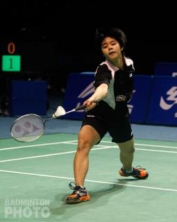 Sapsiree Taerattanachai playing singles at the 2012 China Masters