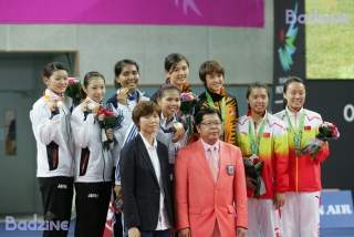 2014 Asian Games WD podium