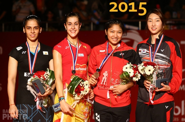 2015 World Championship WS podium