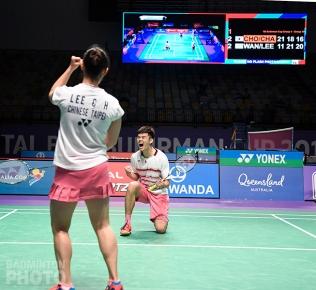 Lee Chia Hsin / Wang Chi Lin at the 2017 Sudirman Cup
