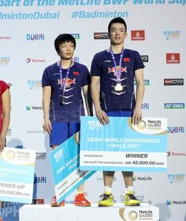 Chen Qingchen and Zheng Siwei at the 2017 Superseries Finals