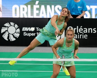 Orleans Masters champions Stefani and Gabriela Stoeva
