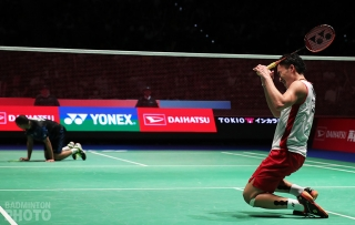 Kento Momota becomes the first Japanese male ever to win a Japan Open title