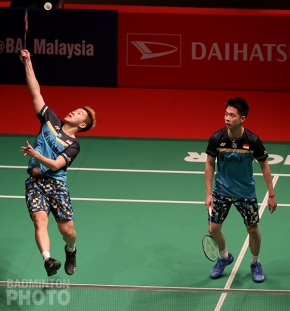 Men's doubles world #1 Marcus Fernaldi Gideon / Kevin Sanjaya Sukamuljo (INA)