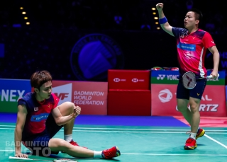 Soh Wooi Yik and Aaron Chia (MAS) at the 2019 All England