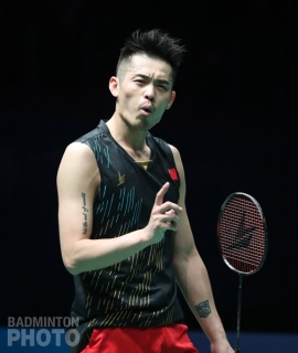 Lin Dan en route to winning the 2019 Malaysia Open