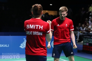 Lauren Smith and Marcus Ellis winning gold at the 2019 European Games