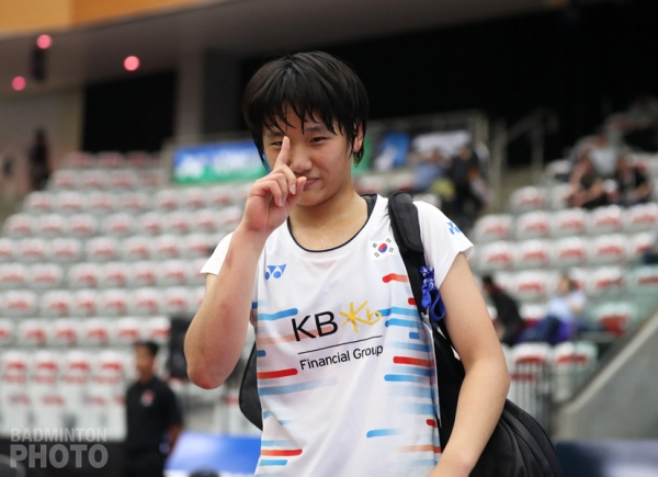 An Se Young (KOR) en route to winning the 2019 Canada Open