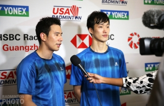 Ko Sung Hyun and Shin Baek Cheol at the 2019 U.S. Open