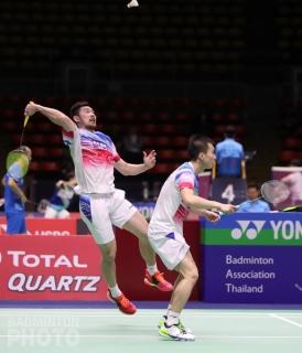 Liu Cheng and Huang Kaixiang at the 2019 Thailand Open