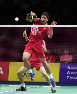 Ko Sung Hyun and Shin Baek Cheol at the 2019 Thailand Open