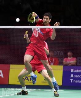 Ko Sung Hyun and Shin Baek Cheol at the 2019 Thailand Open