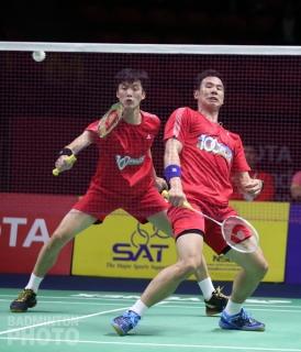 Shin Baek Cheol and Ko Sung Hyun at the 2019 Thailand Open