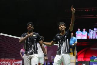 Satwiksairaj Rankireddy / Chirag Shetty after winning the 2019 Thailand Open