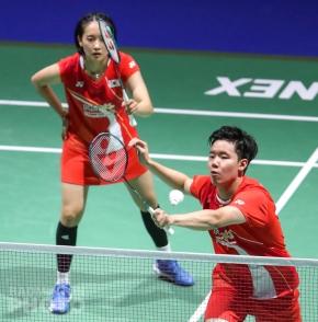 Chae Yoo Jung and Seo Seung Jae at the 2019 World Championships