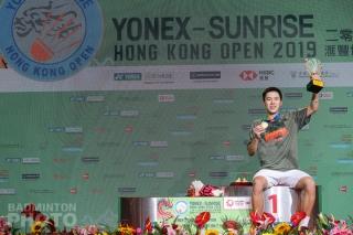 Lee Cheuk Yiu after winning the 2019 Hong Kong Open