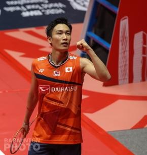 Kento Momota winning the 2019 World Tour Finals