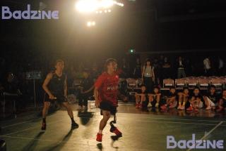 Lee Chong Wei playing with Daisuke Fujihara