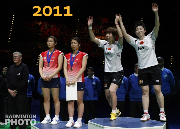 Podium Women's Doubles - AE2011
