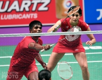 Satwiksairaj Rankireddy and Ashwini Ponnappa at the 2017 Sudirman Cup